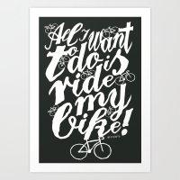 Ride My Bike! Art Print