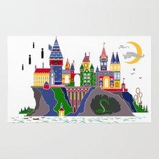 Pop Art Hogwarts Rug
