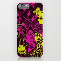 iPhone & iPod Case featuring Dream Factory Pink and Yellow by Stephen Chan