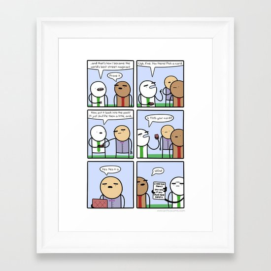 Antics #365 - behind the curtain Framed Art Print