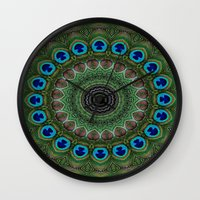 Peacock Abstract Wall Clock
