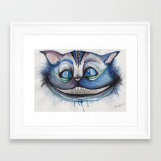Cheshire Cat Grin - Alice in Wonderland Framed Art Print