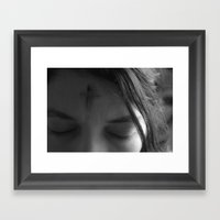 The Sign Of The Cross  Framed Art Print