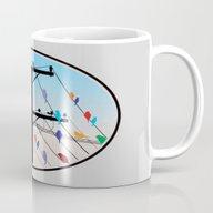 Birds Blue Mug