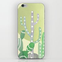 BOHO CACTUS IN MINT iPhone & iPod Skin