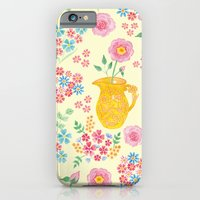 Watercolor floral with vase iPhone 6 Slim Case