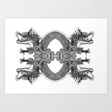 Scales Of Symmetry  Art Print