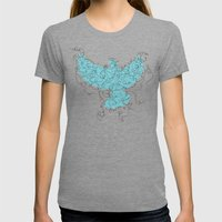 Bird Fly 3 - Aqua/Brown Womens Fitted Tee Tri-Grey SMALL