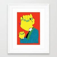Knuckle Head III - Gary Framed Art Print