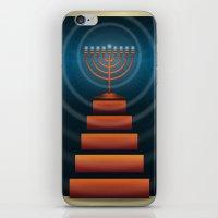 Art Deco Hanukkah Menorah iPhone & iPod Skin