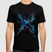 Geometric - Collage Love Mens Fitted Tee Black SMALL