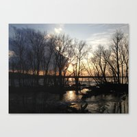 Stranded So I Watch the Sun Canvas Print