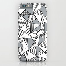 Abstract Lines With Grey Blocks Slim Case iPhone 6s