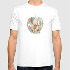 The Big Apple and I SMALL White Mens Fitted Tee