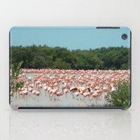 Flamingo Landing iPad Case