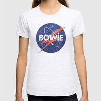 Iconic Bowie Womens Fitted Tee Ash Grey SMALL