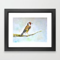 European Goldfinch On Tr… Framed Art Print