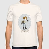 Star Wars fan-girl Mens Fitted Tee Natural SMALL