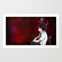 Rin and Kuro  Art Print