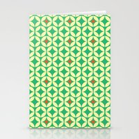 Repeated Retro - green Stationery Cards