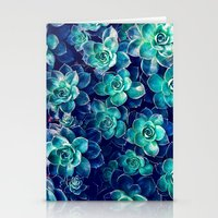 Plants of Blue And Green Stationery Cards
