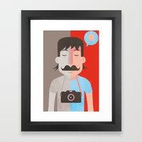 Moustachu Framed Art Print