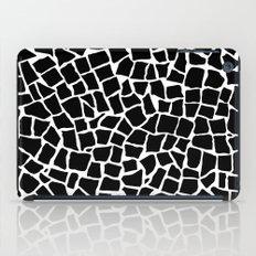 British Mosaic Black and White iPad Case