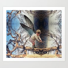 ANGEL IN A TREE Art Print
