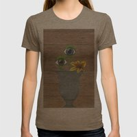 portrait Womens Fitted Tee Tri-Coffee SMALL