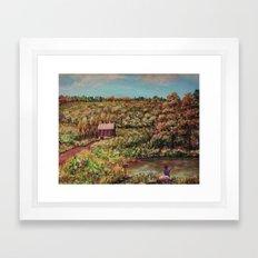 Ave Hurley - Tenant House In August [reversed] Framed Art Print