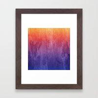 Purple, Pink, Orange Wat… Framed Art Print