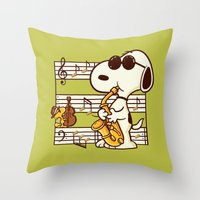 Happiness is Music Throw Pillow