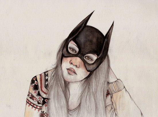 Bat-ed Art Print