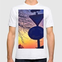 Give Way Mens Fitted Tee Ash Grey SMALL