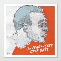 The Teary-Eyed Crib Gaze Canvas Print
