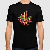 Christmas  Mens Fitted Tee Black SMALL