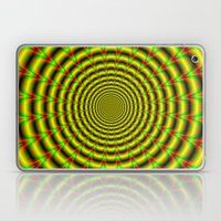 Pulse in Red Yellow and Green Laptop & iPad Skin
