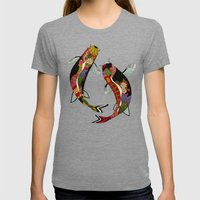 koi chamomile Womens Fitted Tee Tri-Grey SMALL