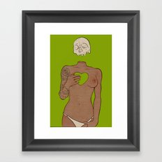 i can feel you when the wind blows...and i hate it. Framed Art Print