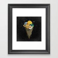 Galactic Ice Cream Framed Art Print