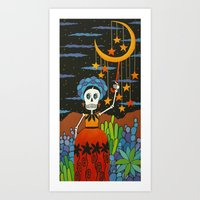 She Hangs The Stars Art Print