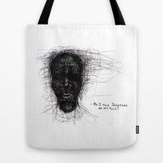 Scribble Face Tote Bag