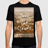 Clouds Mens Fitted Tee Black SMALL