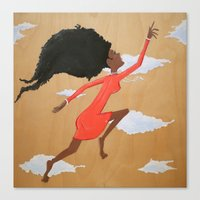Floating Fro Woman Canvas Print