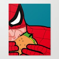 The secret life of heroes - Spiderfood Canvas Print