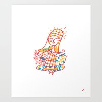 Hang on, Baby Art Print