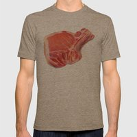 Meat Mens Fitted Tee Tri-Coffee SMALL