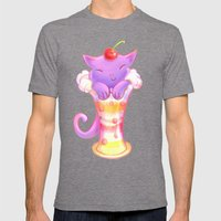 Sorbet Cat Mens Fitted Tee Tri-Grey SMALL