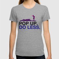 Surfing Lesson Womens Fitted Tee Athletic Grey SMALL