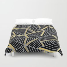 Ab 2 Silver and Gold Duvet Cover